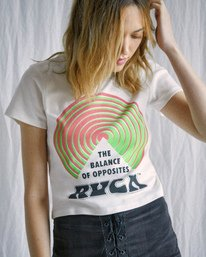 3 Camille Rowe | Psych T-Shirt White AVJZT00345 RVCA