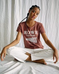 1 Camille Rowe | Vinters T-Shirt Brown AVJZT00346 RVCA