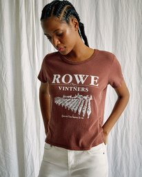 5 Camille Rowe | Vinters T-Shirt Brown AVJZT00346 RVCA