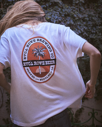 1 Camille Rowe | Rowe Brewing T-Shirt White AVJZT00348 RVCA