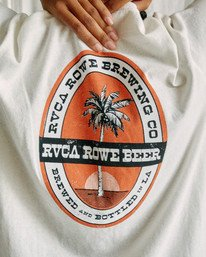 4 Camille Rowe | Rowe Brewing T-Shirt White AVJZT00348 RVCA