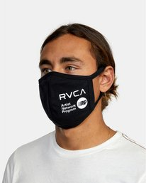 2 RVCA Face Mask Black AVYAA00119 RVCA