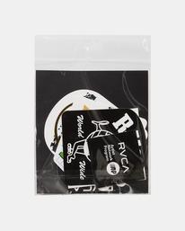 2 RVCA Sticker Pack Grey AVYAA00124 RVCA