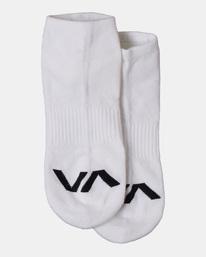 1 VA Sport | 3 Pack RVCA Logo Super No Show Socks White AVYAA00179 RVCA