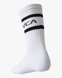 5 2 Pack Bandana Crew Socks Black AVYAA00184 RVCA