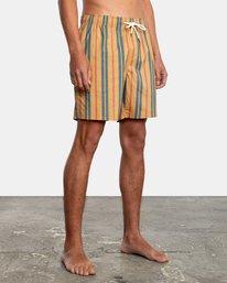 "4 Barnes Elastic Boardshorts 17"" Multicolor AVYBS00115 RVCA"