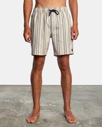 "1 Barnes Elastic Boardshorts 17"" Beige AVYBS00115 RVCA"