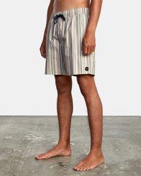 "4 Barnes Elastic Boardshorts 17"" Beige AVYBS00115 RVCA"