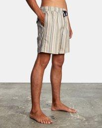 "6 Barnes Elastic Boardshorts 17"" Beige AVYBS00115 RVCA"