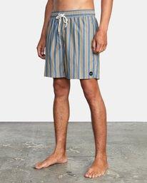 "3 Perry Elastic Boardshorts 17"" Blue AVYBS00126 RVCA"