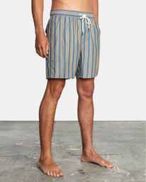 "4 Perry Elastic Boardshorts 17"" Blue AVYBS00126 RVCA"