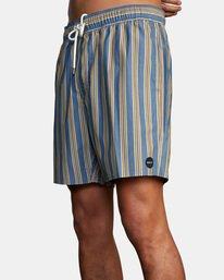 "6 Perry Elastic Boardshorts 17"" Blue AVYBS00126 RVCA"