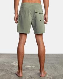 """2 VA Pigment Boardshorts 18"""" Green AVYBS00131 RVCA"""