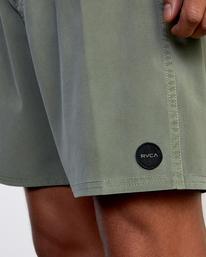 """3 VA Pigment Boardshorts 18"""" Green AVYBS00131 RVCA"""