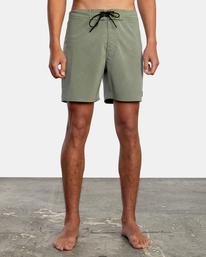 """1 VA Pigment Boardshorts 18"""" Green AVYBS00131 RVCA"""