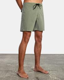 """5 VA Pigment Boardshorts 18"""" Green AVYBS00131 RVCA"""