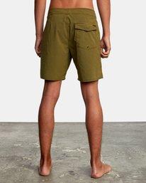 "2 VA Pigment Boardshorts 18"" Brown AVYBS00131 RVCA"