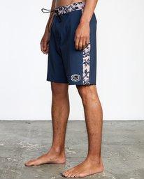 """4 Apex Boardshorts 19"""" Blue AVYBS00141 RVCA"""