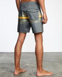 "5 Westport Hawaii Print Boardshorts 17"" Black AVYBS00143 RVCA"