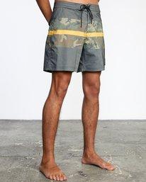 "6 Westport Hawaii Print Boardshorts 17"" Black AVYBS00143 RVCA"