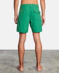 "2 Stanton Boardshorts 17"" Green AVYBS00145 RVCA"