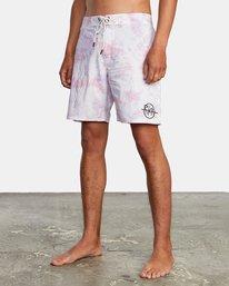 "3 Blotter Boardshorts 18"" White AVYBS00151 RVCA"