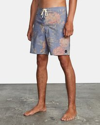 """4 Painted Valley Boardshorts 18"""" Blue AVYBS00152 RVCA"""