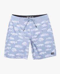 """0 Ben Horton   Fish Boardshorts 19"""" Blue AVYBS00157 RVCA"""