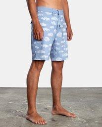 """6 Ben Horton   Fish Boardshorts 19"""" Blue AVYBS00157 RVCA"""
