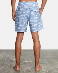 "2 Ben Horton | Fish Elastic Boardshorts 17"" Blue AVYBS00158 RVCA"