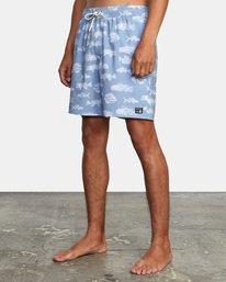 "3 Ben Horton | Fish Elastic Boardshorts 17"" Blue AVYBS00158 RVCA"