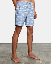 "4 Ben Horton | Fish Elastic Boardshorts 17"" Blue AVYBS00158 RVCA"