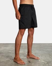 """6 Opposite Elastic 2 Boardshorts 17"""" Black AVYBS00162 RVCA"""
