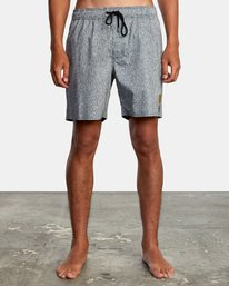 "1 Matt Leines | Leines Elastic Boardshorts 17"" Black AVYBS00171 RVCA"