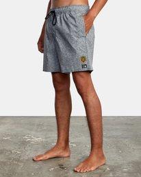 "4 Matt Leines | Leines Elastic Boardshorts 17"" Black AVYBS00171 RVCA"