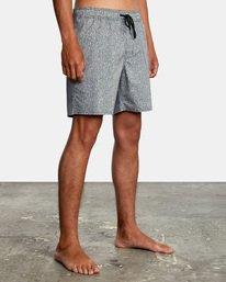 "6 Matt Leines | Leines Elastic Boardshorts 17"" Black AVYBS00171 RVCA"