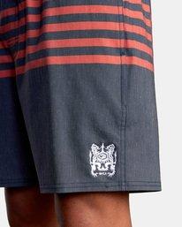 "3 Sutton Elastic Shorts 17"" Blue AVYBS00172 RVCA"
