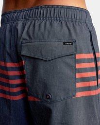"7 Sutton Elastic Shorts 17"" Blue AVYBS00172 RVCA"