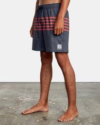 "4 Sutton Elastic Shorts 17"" Blue AVYBS00172 RVCA"