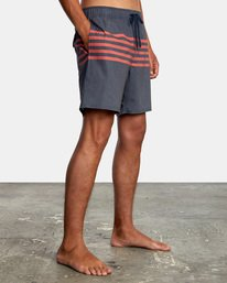 "6 Sutton Elastic Shorts 17"" Blue AVYBS00172 RVCA"