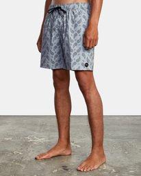 """4 Vaisley Elastic Boardshorts 17"""" Blue AVYBS00174 RVCA"""