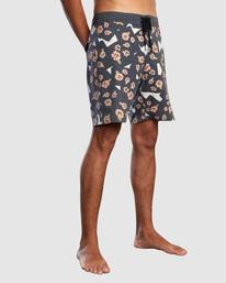 "5 Pop Flower Boardshorts 17"" Black AVYBS00181 RVCA"