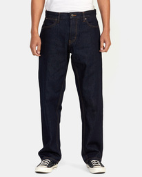 1 Americana Day Shift Relaxed Fit Denim Jeans Green AVYDP00106 RVCA