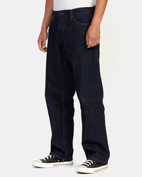 3 Americana Day Shift Relaxed Fit Denim Jeans Green AVYDP00106 RVCA