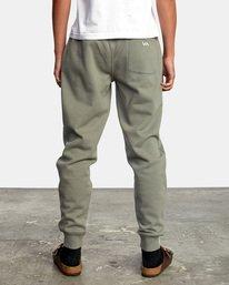 2 Big RVCA Sweatpants Green AVYFB00119 RVCA