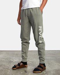 4 Big RVCA Sweatpants Green AVYFB00119 RVCA
