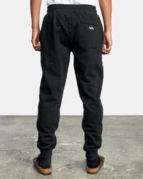2 Big RVCA Sweatpants Black AVYFB00119 RVCA