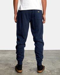 2 Big RVCA Sweatpants Blue AVYFB00119 RVCA