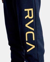 3 Big RVCA Sweatpants Blue AVYFB00119 RVCA