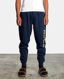 1 Big RVCA Sweatpants Blue AVYFB00119 RVCA